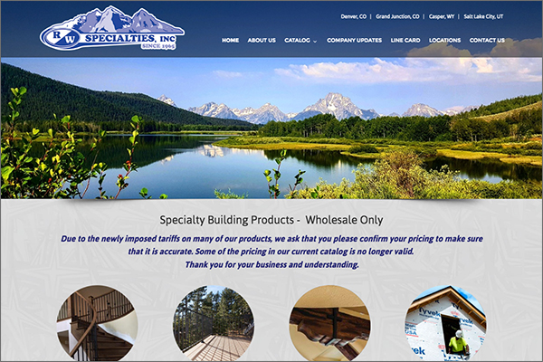 RW Specialties website