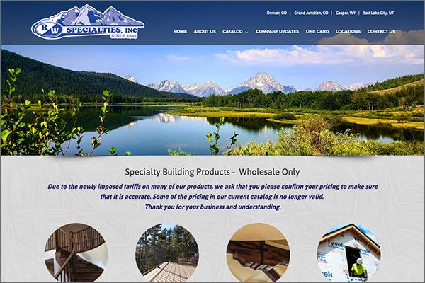 RW Specialties website